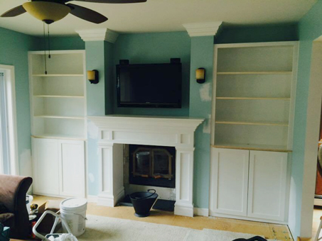 Fireplace Mantle and Enclosure